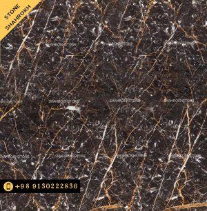 سنگ-گلدن-بلک-کاشان-با رگهای طلایی و سفید