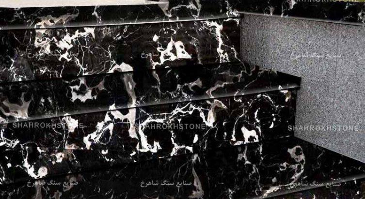 سنگ-خارجی-مشکی-گل-دار-سفید-بلک-کالیفرنیا-black-California-مرمریت.jpg-نما-پله-و-قیمت-و-انالیز