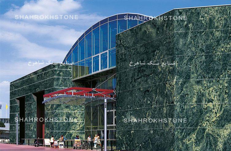 نما-ساختمان-سنگ-گرانیت-سبز-جنگلی-بیرجند