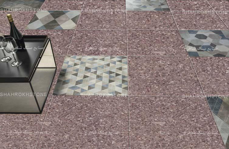 نما-سنگ-فرش-گرانیت-صورتی-شکوفه