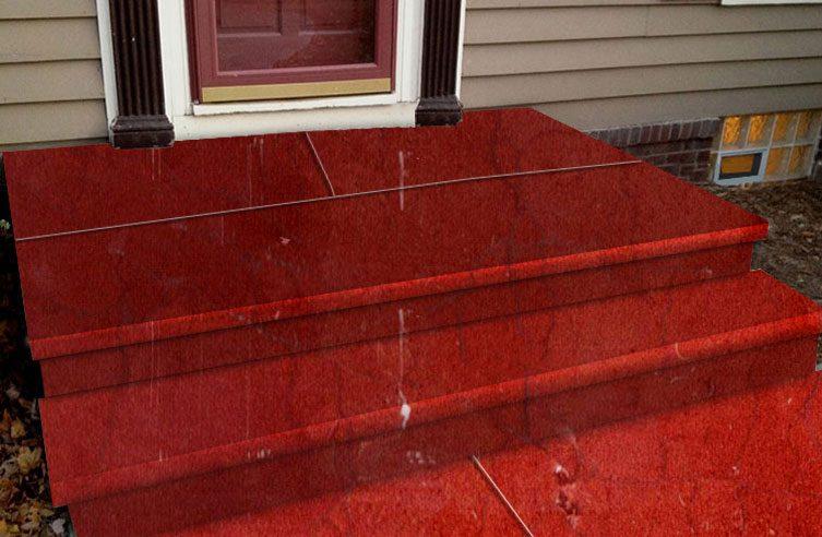 سنگ پله خاتم,نما پله مرمریت قرمز,پله سنگی,پله سنگ قرمز