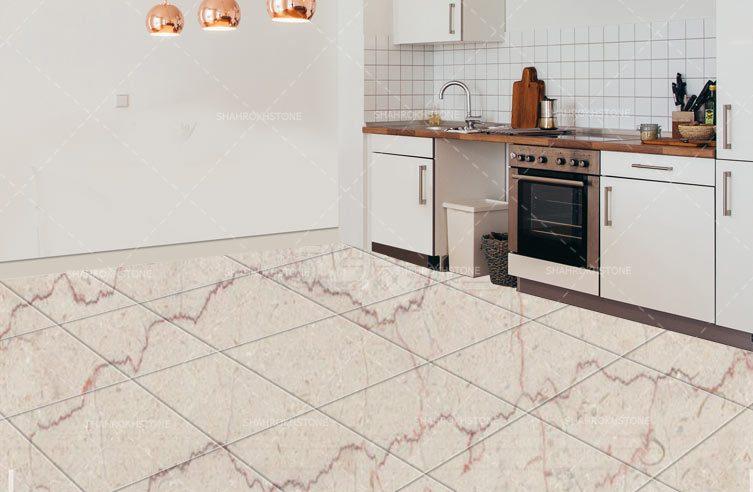 سنگ فرش صلصالی,نما کف مرمریت صلصالی,نما سالن صلصالی,نما کف مرمریت روشن
